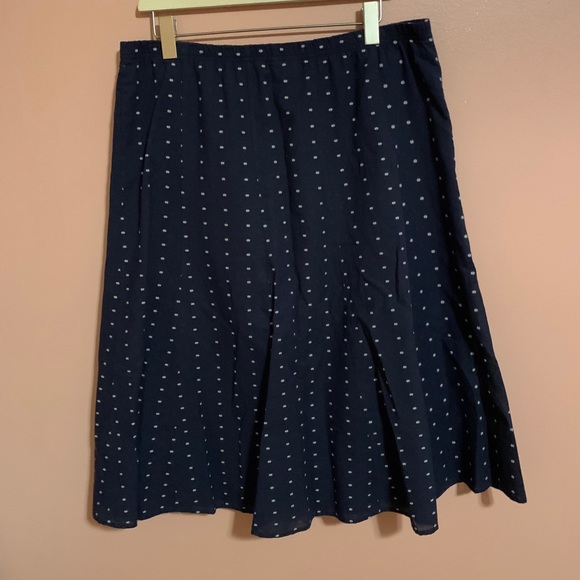 Mid length blue skirt
